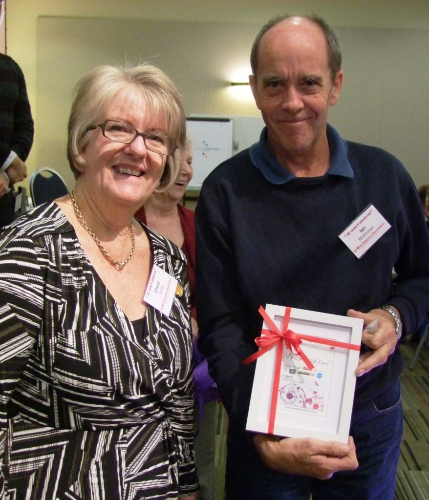 Ian McKinnon from our WAGS group was one of the lucky winners of a raffle prize.